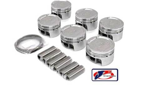 JE Forged Piston Set, 83mm Bore, 9:1 CR, 2.8L VR6 (AAA)