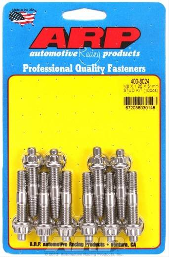 ARP 12V VR6 Stainless Exhaust Stud Kit (w/ washers & nuts)