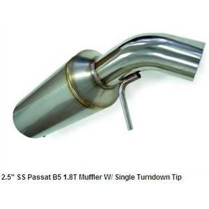 "Autotech - Autotech 2.5"" Stainless Passat B5 1.8T Muffler W/ Single Turndown Tip"