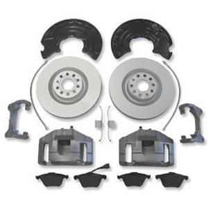 345mm x 30mm FRONT BRAKE CONVERSION WITH DRILLED & SLOTTED ROTORS, 2006> Mk5 GTI/GLI 2.0T