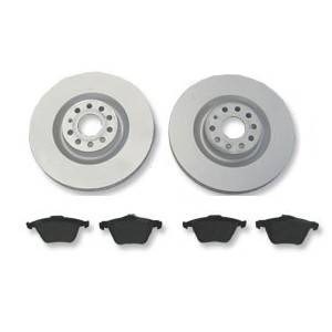 239mm OE Vented Rotors with OP semi metallic pads kit, 1980-1984