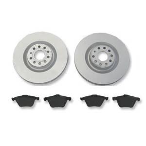 Corrado G60 280mm 4x100 OE Front Brake Rotors w/ Brembo Premium Low-Met OE Equivalent Pads