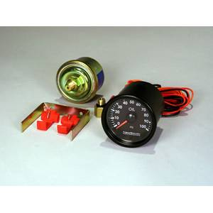 INDIGO 100psi OIL PRESSURE GAUGE w/ INSTALL KIT