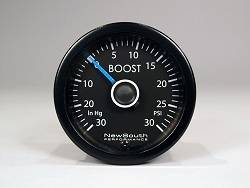NewSouth Mk6 White R 30inHg - 30 PSI boost gauge