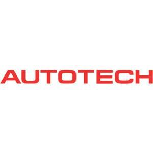 "Autotech - AUTOTECH DIE-CUT DECAL LOGO STICKER 1/2x6"" RED"