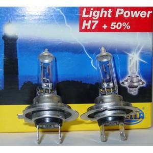 HELLA H7 LightPower +50% BULBS PAIR