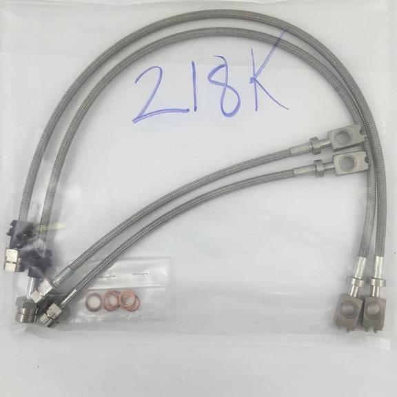 Autotech - AUTOTECH STAINLESS BRAIDED BRAKE LINES MK6 W/ 272mm 4 PIECE