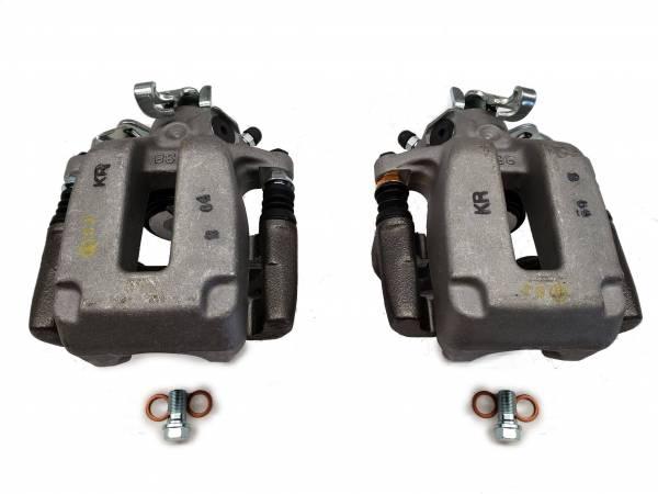 Reman MK4 R32 Rear Brake Calipers & Carriers 256mm (also 337, 20th, Audi TT 8N)
