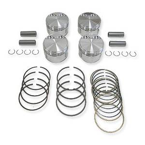 Cabriolet - JE Forged Piston Set, 83mm Bore, 10.5:1 CR, 1.8L 8V (JH, HT, RD, PF, etc) MK1 MK2