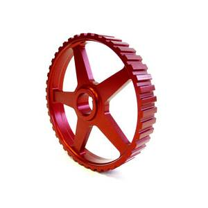 Golf/GTI/Rabbit - MKII (1985-92) - Autotech - AUTOTECH Lightweight Intermediate Shaft Pulley - RED - 8V Mk1 Mk2 Mk3