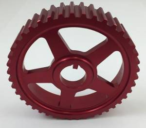 Golf/GTI/Rabbit - MKII (1985-92) - Autotech - AUTOTECH Lightweight Intermediate Shaft Pulley - RED - 16V & B5 150hp 1.8T