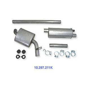 """Engine - Aluminized Exhaust - Autotech - Temporarily Unavailable - Autotech SportTuned 2.25"""" Exhaust, MK2 Golf 8V for 45/50mm cat outlet"""