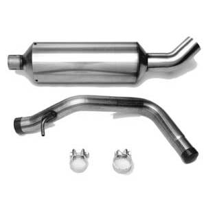 "Engine - Stainless Steel Exhaust - Autotech - Autotech 2.25"" Stainless Exhaust midpipe back 2L/TDI MK4 Golf/Beetle turndown tip"