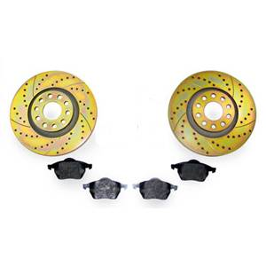 288mm SPORTTUNED ROTORS/MINTEX PADS KIT, Mk5 RABBIT/JETTA 2.5L