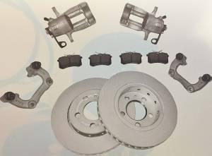Brakes - Brake Conversion Kit - OEM REAR VENTED DISC BRAKE CONVERSION MK4 256mm - BASE KIT