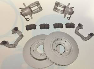 Jetta - OEM REAR VENTED DISC BRAKE CONVERSION MK4 256MM - FULL KIT