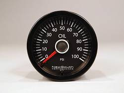 NewSouth MK6 MK7 VW White 100 PSI Oil Pressure Gauge