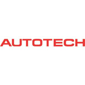 "Autotech - AUTOTECH DIE-CUT DECAL LOGO STICKER 1/2x6"" RED"