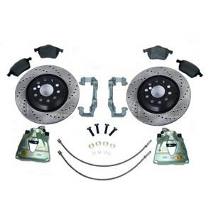 312MM FRONT BRAKE CONVERSION KIT VR6 1992-95 CLUBSPORT ROTORS W/ REMAN CALIPERS/CARRIERS